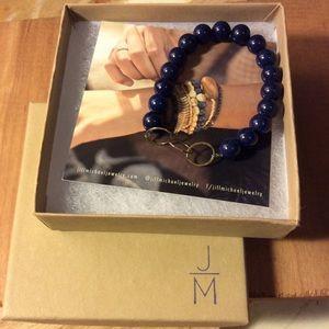 Jill Michael blue stone stretch bracelet